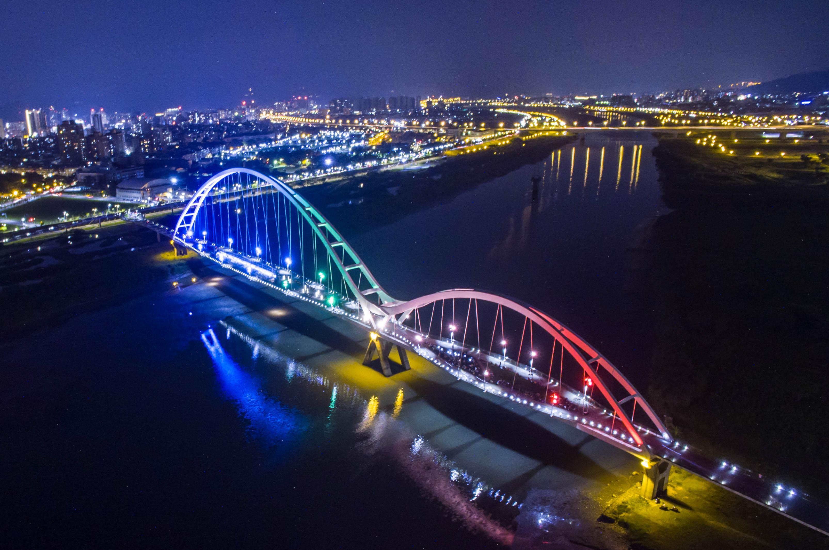 新北新月橋(圖/新北市政府提供)