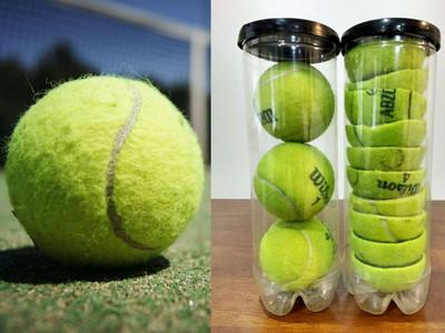 網球從中間剪開,就能多收納1倍唷 21個「廢到笑」生活技能分享