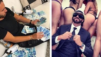 橡皮筋捆1萬美鈔!網問富豪皮夾裝什麼 公子哥:根本不帶