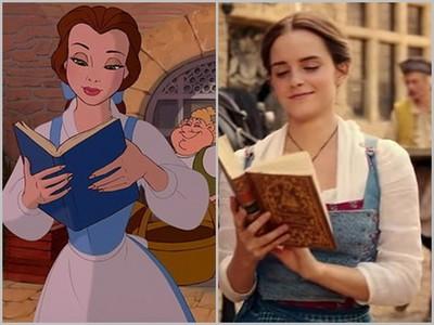 《美女與野獸》真人vs動畫對照圖,童話故事原來不是騙人的