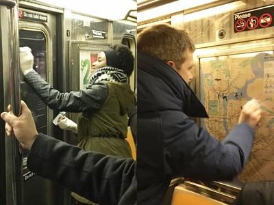 把仇恨化為愛!地鐵遭塗納粹圖像 眾人延遲下車讓它消失