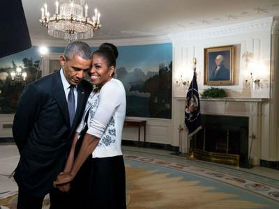 「牽手28年,你還是讓我覺得新鮮」 歐巴馬情人節閃瞎全球