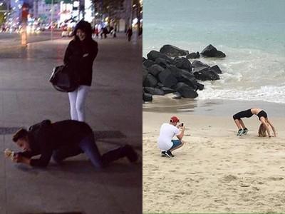 每個IG正妹的背後,都有一個腳架男友...跪拍到抽筋誰人知