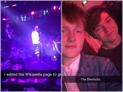 演唱會遲到只剩鳥位置,他竄改wiki說是歌手的表弟…爽進VIP