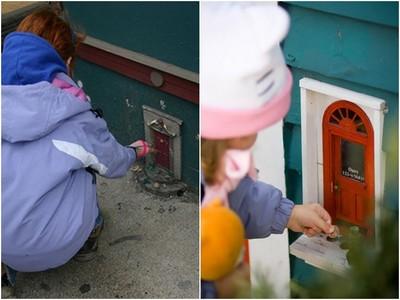 讓孩子在夢想中長大 安娜堡街上到處設置「神祕小門」