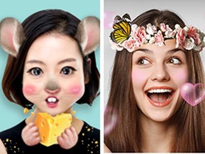 女孩自拍「用貼圖遮臉」的原因?被破解後苦笑承認:真是這樣