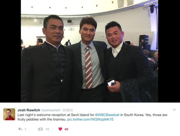 ▲ 陳金鋒、朴贊浩、胡金龍3人在南韓相遇。(圖/羅威奇推特)
