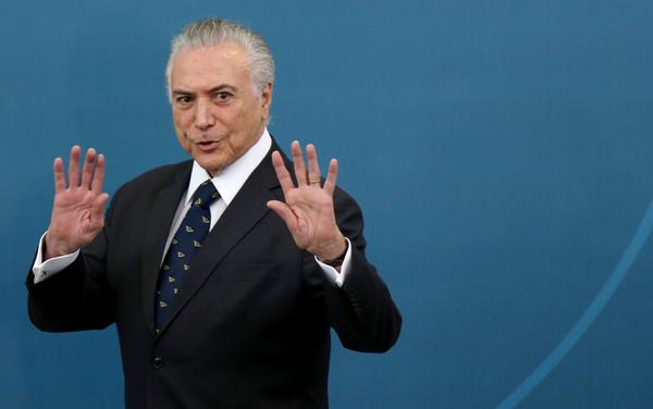 巴西總統泰梅爾(Michel Temer)。(圖/路透社)