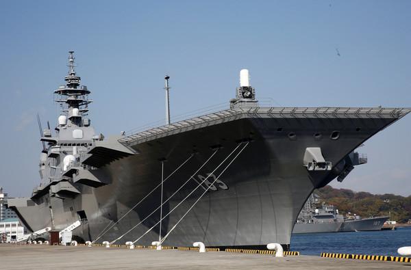 出雲級直升機護衛艦,出雲號護衛艦,DDH-183。(圖/路透社)