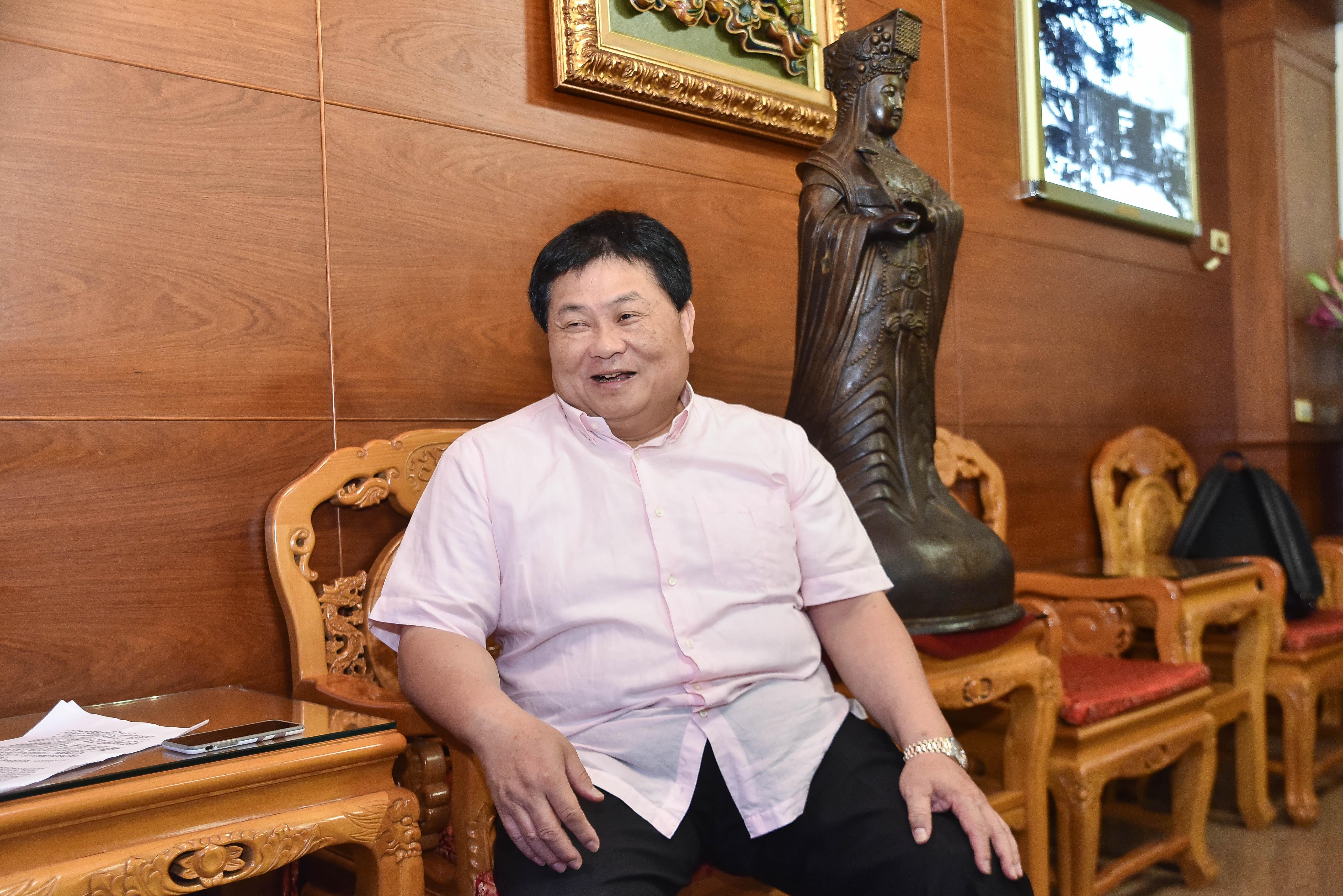 大甲鎮瀾宮專訪董事長顏清標專訪。(圖/記者李毓康攝)