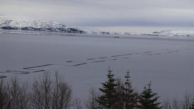 冰湖邪門奇景「貪食蛇裂痕」 綿延兩公里...讓冰島人都被嚇死