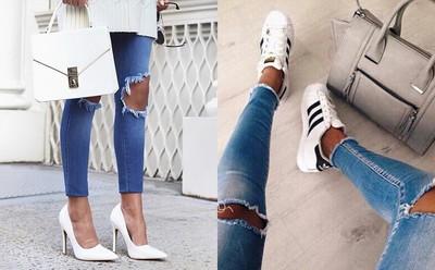 穿「破褲」必備3種鞋款