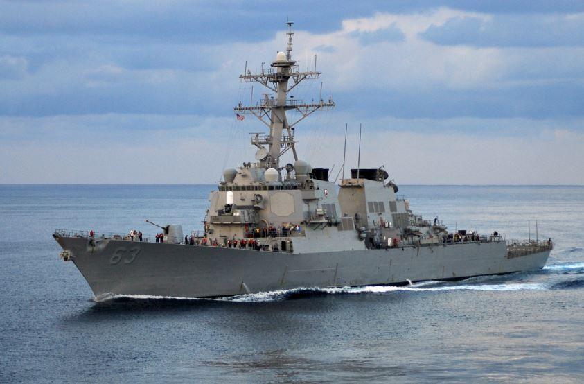 史塔森號驅逐艦,USS Stethem DDG 63。(圖/翻攝自U.S. Pacific Fleet粉絲專頁)