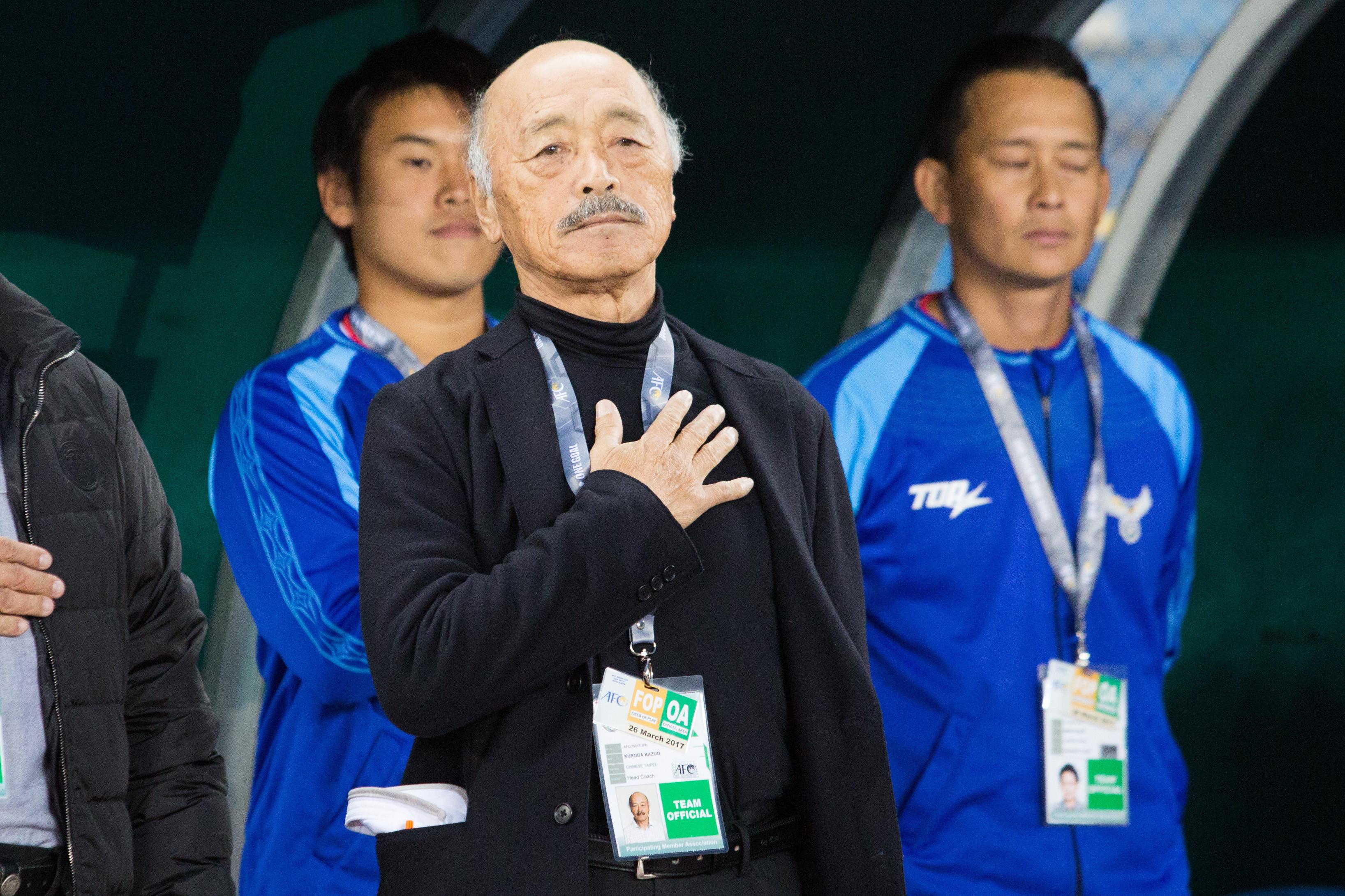 亞洲盃男足資格賽中華VS土庫曼,中華隊總教練,黑田和生(圖/記者季相儒攝)