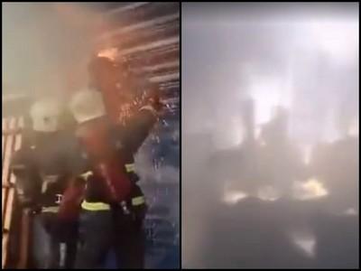 到處都是火!消防員無畏走進黑煙中 只為了堅守信念