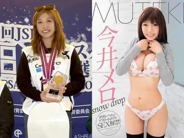 ▲今井夢露是滑雪板奧運國手出身,31日宣布進軍拍AV震撼網友。(圖/翻攝自日網《2chav》)