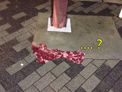 回家發現「大塊紅肉」躺地上!接近看看..呃好像有點不對