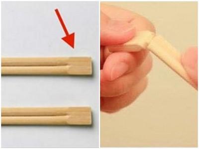 虧慘!免洗筷上面「凸凸的」要幹嘛?原來需折斷拿來用才行!