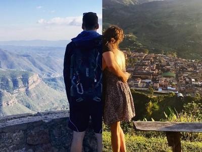 用同等視角在照片中相遇,這對遠距離情侶彷彿從未分開!