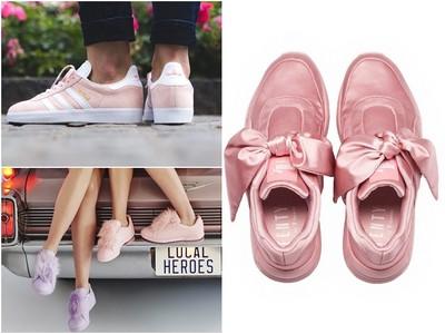 春天13款少女心「粉紅色球鞋」 穿上之後桃花就要開啦