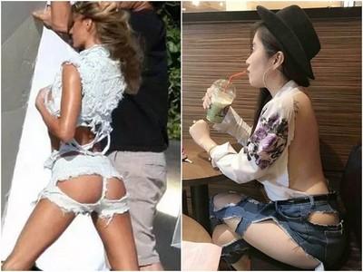 誰來可憐可憐這些妹子 衣服破成這樣了還在穿