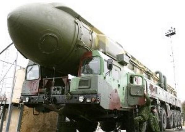 白楊-M洲際彈道飛彈,RT-2PM2 Topol-M。(圖/翻攝自俄羅斯國防部)