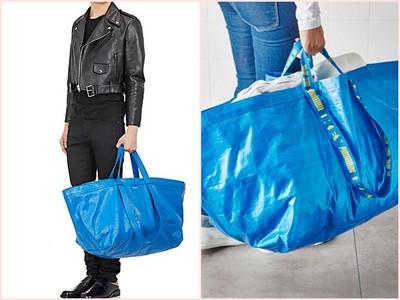 巴黎世家6.5萬新款藍包霸氣上架!結果和IKEA29元購物袋87趴像