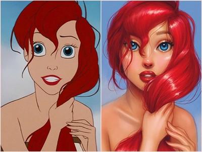 向童年致敬!插畫師重繪「迪士尼公主」  愛麗兒美得像真有其人