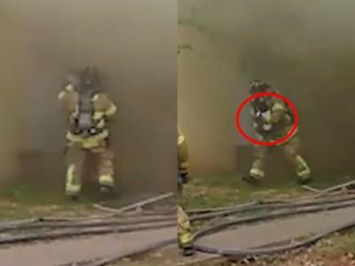火場濃煙中「空接嬰兒」 打火兄弟靦腆笑:沒時間停下來想啦!