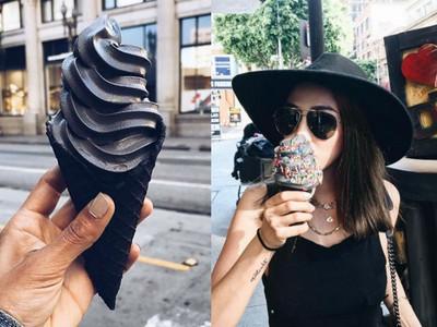 「濃黑霜淇淋」洛杉磯暴紅 謎樣口味引燃IG每個黑暗靈魂