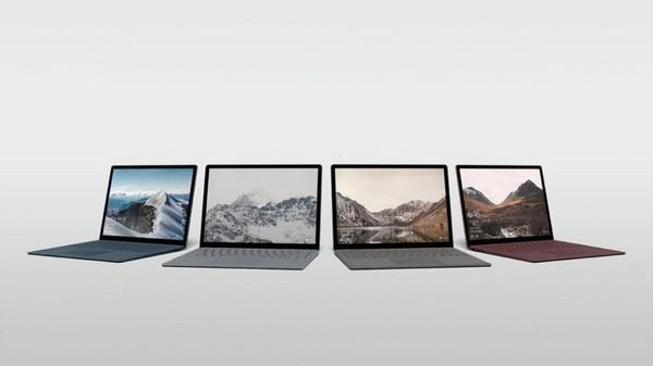 微軟Surface Laptop筆電發表。(圖/翻攝自官網)