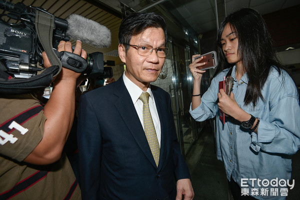 翁啟惠因浩鼎案出席士林地方法院(圖/記者張一中攝)