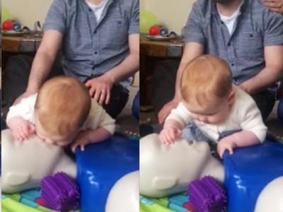 8月大女嬰學救人!小手掌溫柔捏鼻子,人工呼吸超標準