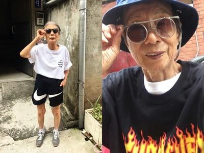 88歲的「超潮阿嬤」自稱月光仙子 轉戰ig粉絲瞬間灌爆