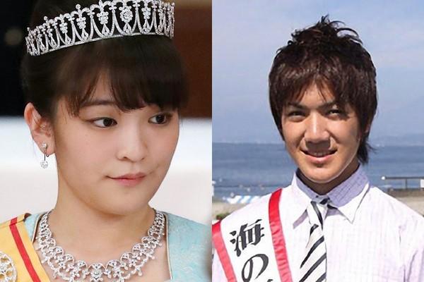 日本真子公主將和大學同學小室圭「海王子」訂婚。(圖/翻攝自mipolin_tokyo推特)