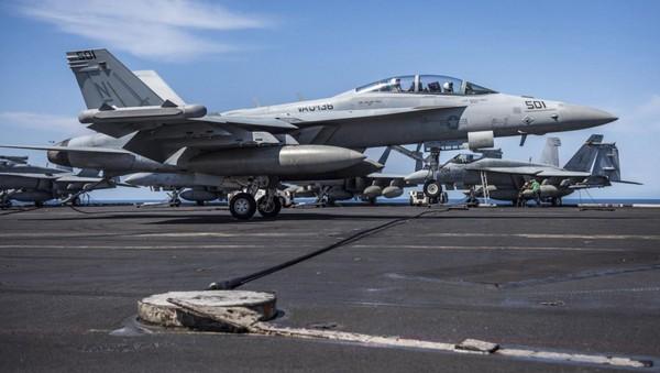 EA-18G咆哮者電子作戰機。(圖/翻攝自USS Carl Vinson (CVN 70) 粉絲專頁)