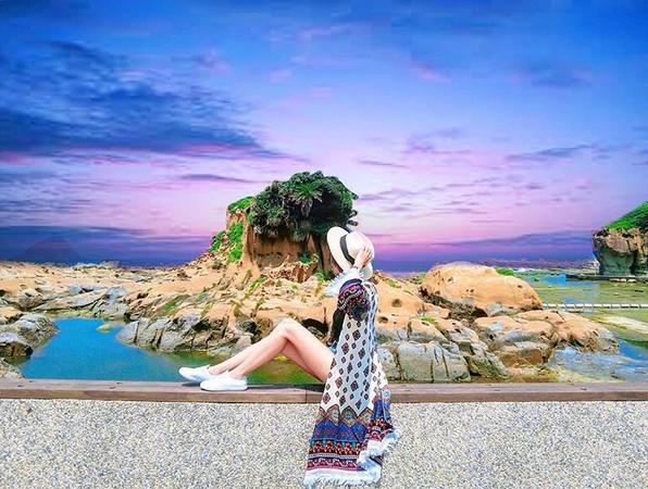 ▲基隆和平島濱海公園。(圖/IG@elena_0921提供,請勿任意翻攝)