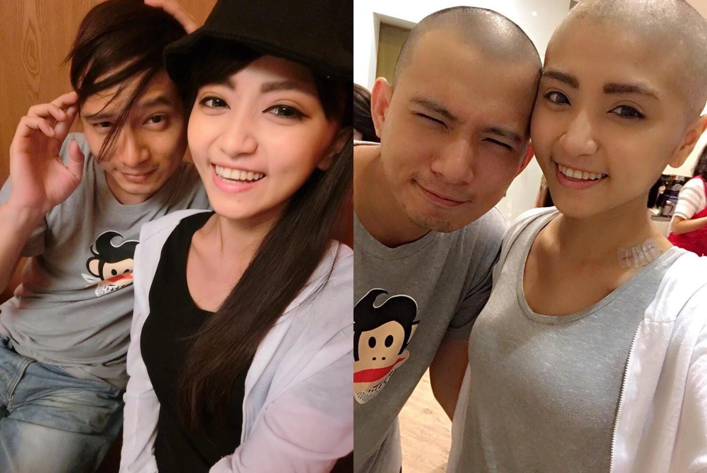 25歲懷孕突發現罹癌,她因化療想剃髮,老公也跟她一起剃。(圖/施柏薇授權使用)