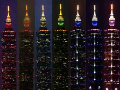 希望台北101天天閃紫燈!「七彩點燈」告訴你今天星期幾