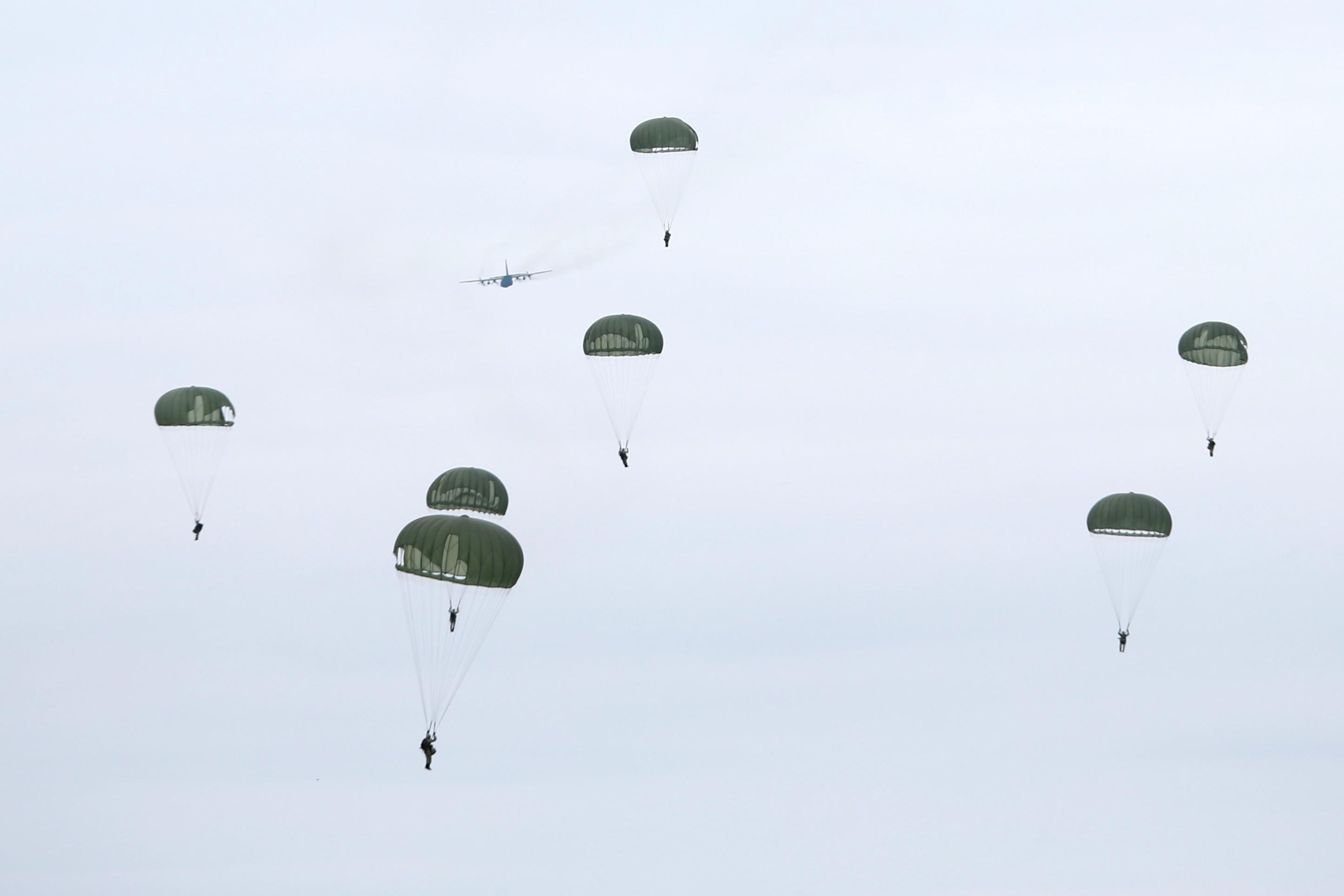 ▲漢光33號演習清泉崗基地聯合防衛作戰。(圖/國防部提供)