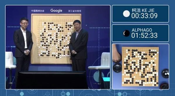 棋王柯潔3度敗給AlphaGo 最終戰後不沮喪 馬上檢討自己(圖/翻攝Deepmind直播)