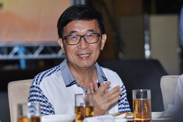 ▲陳水扁出席凱達格蘭基金會募款餐會。(圖/記者李毓康攝)