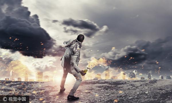 ▲激進,破壞,恐怖主義,衝突,暴動,憎恨,犯罪(圖/視覺中國CFP)