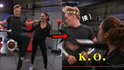 找神力女超人玩「健身Play」 他原想自肥卻慘被一拳K.O