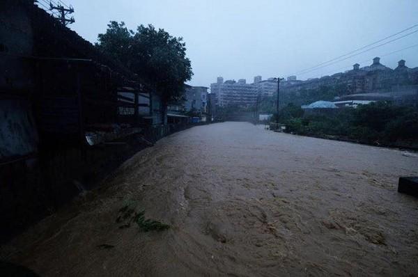 ▲基隆大武山淹水情況。(圖/記者徐文彬攝)
