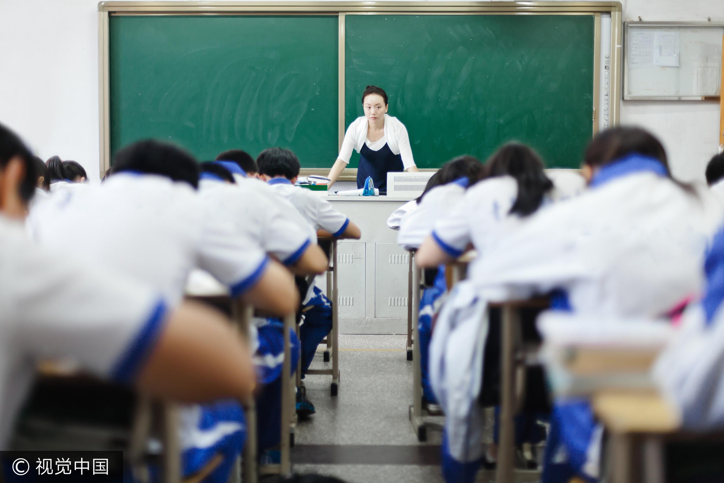 老師,學生,升學班(圖/視覺中國CFP)