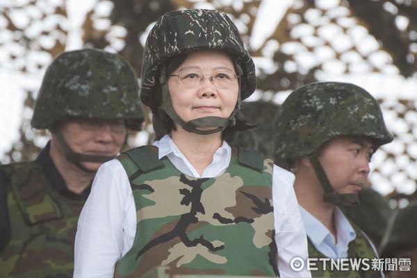 ▲國軍「漢光33號」演習實兵演練,蔡英文(圖/記者季相儒攝)