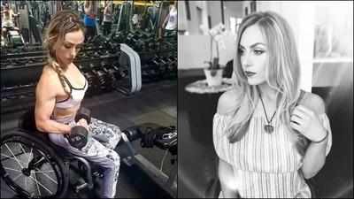車禍害下身癱瘓 她健身變「輪椅女神」,單槓拉到猛男也佩服