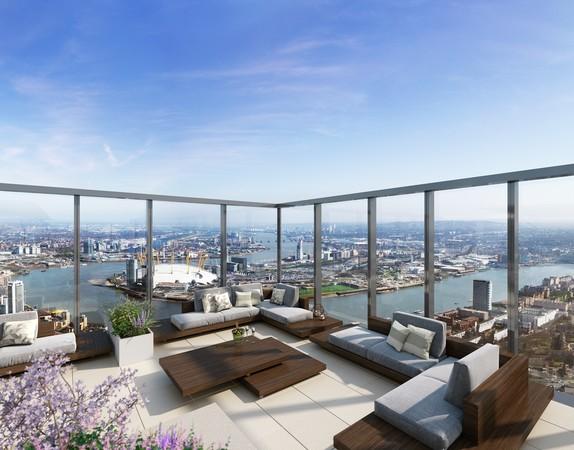▲英國地產集團來台推「South Quay Plaza」摩天指標案。(圖/業者提供)