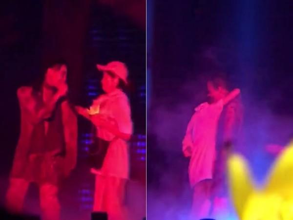 ▲▼GD演唱會突遭女粉絲「強抱拉扯」。(圖/翻攝自「x.x.xgdbigbang_vip」IG)